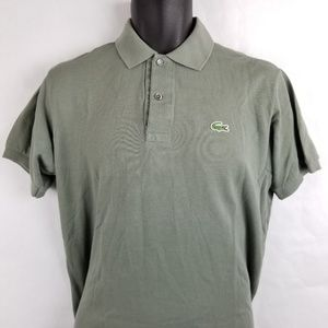 Lacoste Golf Polo Short Sleeve Shirt Green Size 3